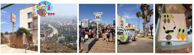 Hotel Las Palmas in Hollywood, hier wurde Pretty Woman gedreht, vom Griffith Observatory hat man einen unglaublichen Blick auf L.A., am Santa Monica Pier endet die Route 66, crazy wird's in Venice Beach, besonders tolle Accessoires kann man in L.A. shoppen, z.B. am Farmers Market.