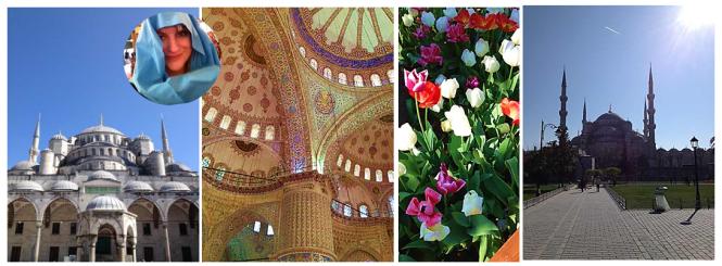 Die Blaue Moschee ist bei uns unter dem Namen bekannt, da im Innenraum wunderschöne blaue Kacheln verarbeitet wurden. Stylekiddo trägt ausnahmsweise Kopftuch. In der türkischen Kultur haben Tulpen eine große Bedeutung. Die Hagia Sophia ist die Hauptmoschee in Instanbul und liegt nur 500 Meter von der Blauen Moschee entfernt.
